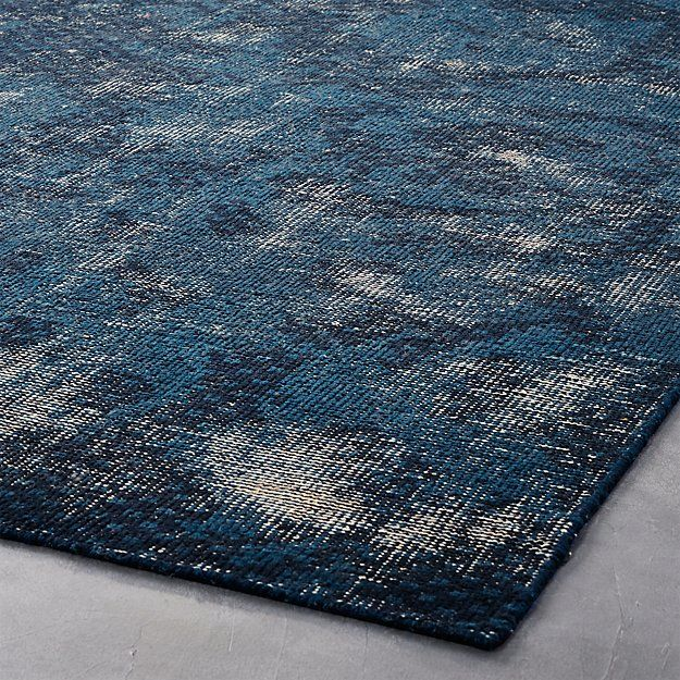 The Hill Side Disintegrated Floral Blue Rug 6 X9 Reviews Cb2 In 2020 Floral Rug Blue Rug Rugs