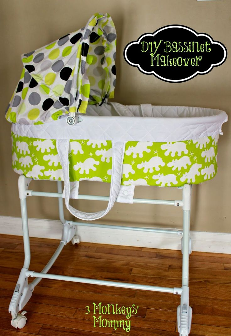 3 Monkeys' Mommy: DIY Bassinet Makeover