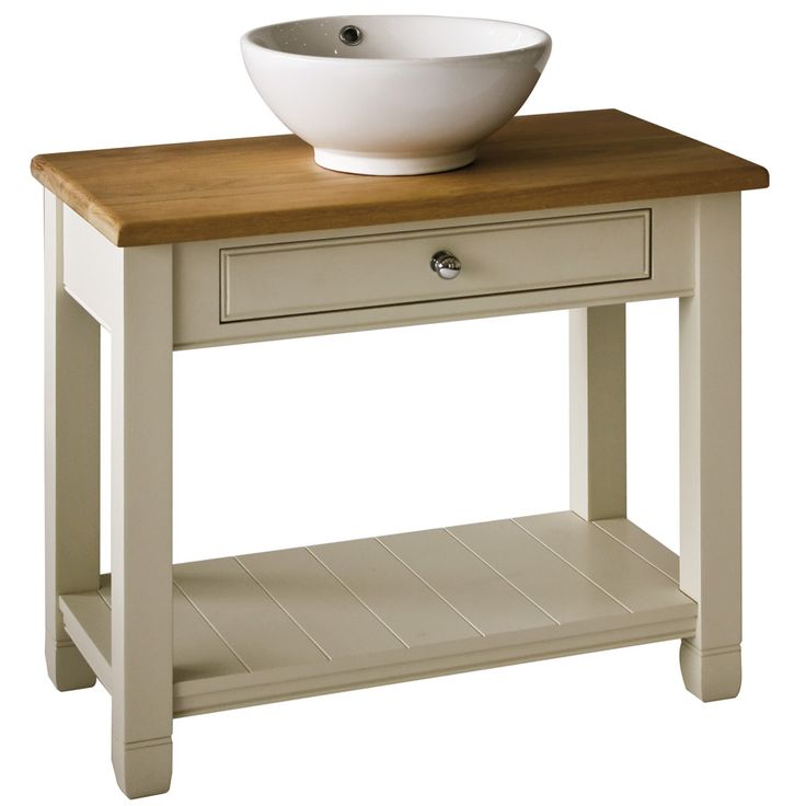 Chichester washstands, with a solid Oak countertop, are the ultimate in minimalist bathroom chic, offering a modern twist on a classic bathroom style. The 850 washstand provides spacious open storage thanks to its large sturdy lower shelf.