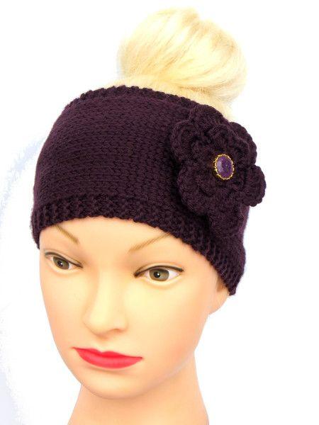 Stirnbänder - Stirnband Blume Merino - ein Designerstück von Maiblume-fiore-di-maggio bei DaWanda