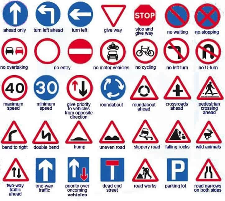 Road Signs And Their Meaning In Ghana Road Signs Road Sign