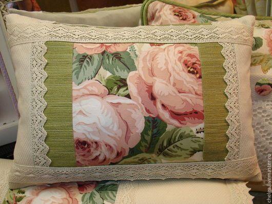 Текстиль, ковры ручной работы. Декоративные лоскутные подушки