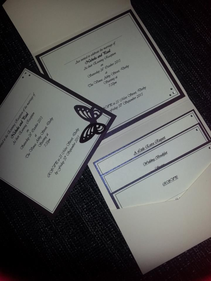 invitation letter for judging an event%0A Luxury handmade butterfly diamant   pocketfold wedding invitation  sample