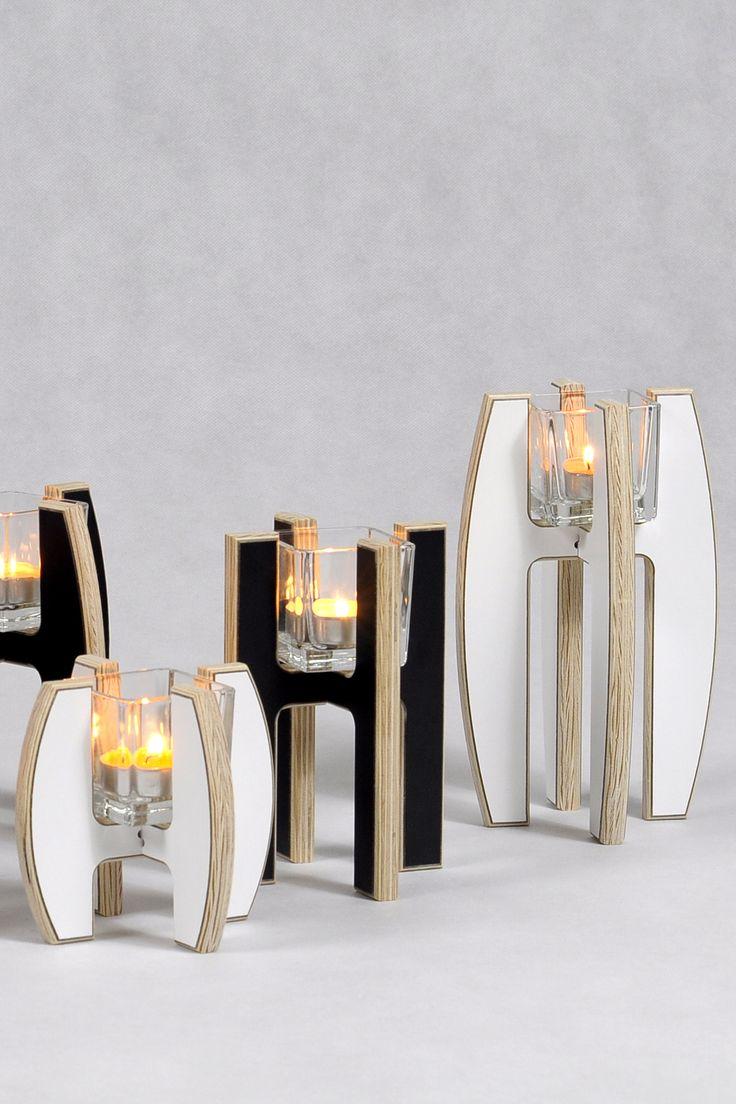 Group of LAMPIO candlesticks