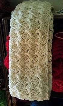 Crazy Shell Infinity Scarf   free pattern   The Batter's Box