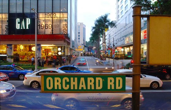 Orchard Road, one of Singapore's trendiest streets.  Source: orchardroad.org