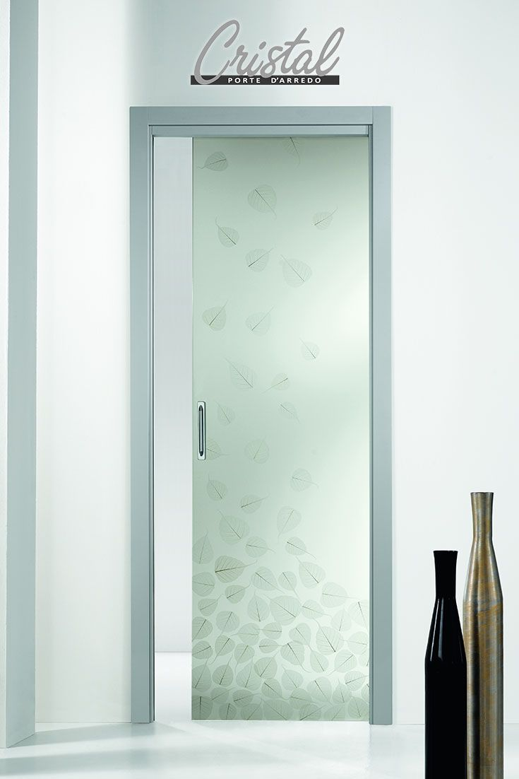 10 best images about porte vetro decorate con foglie - Porte in vetro design ...