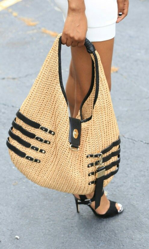 Jimmy Choo Straw Hobo Handbag Source