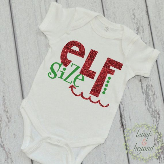 Baby Girl Christmas Outfit Elf Size One Piece, Baby's First Christmas Shirt by BumpAndBeyondDesigns