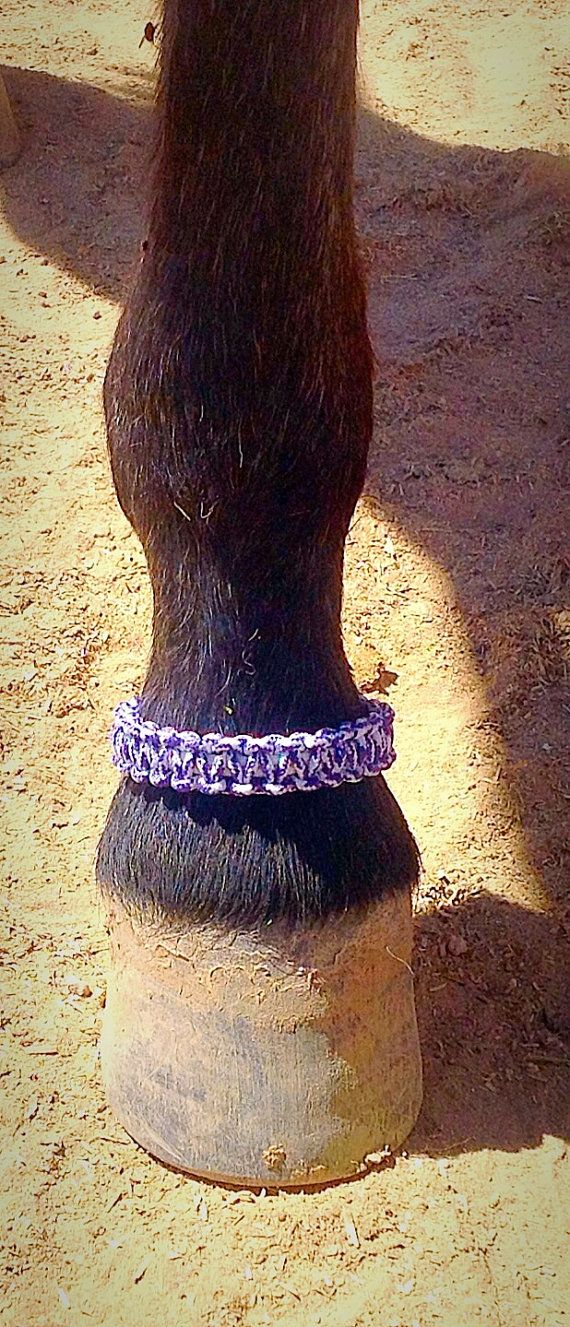 Paracord ankle bracelet, hoof wear, horse accessories, survival bracelet, horse…