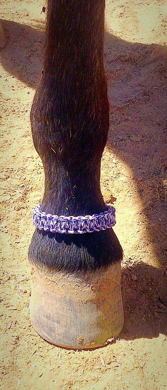 Paracord ankle bracelet, hoof wear, horse accessories, survival bracelet, horse fashion, horse ornament, trail riding, hoof, cuffs, unique