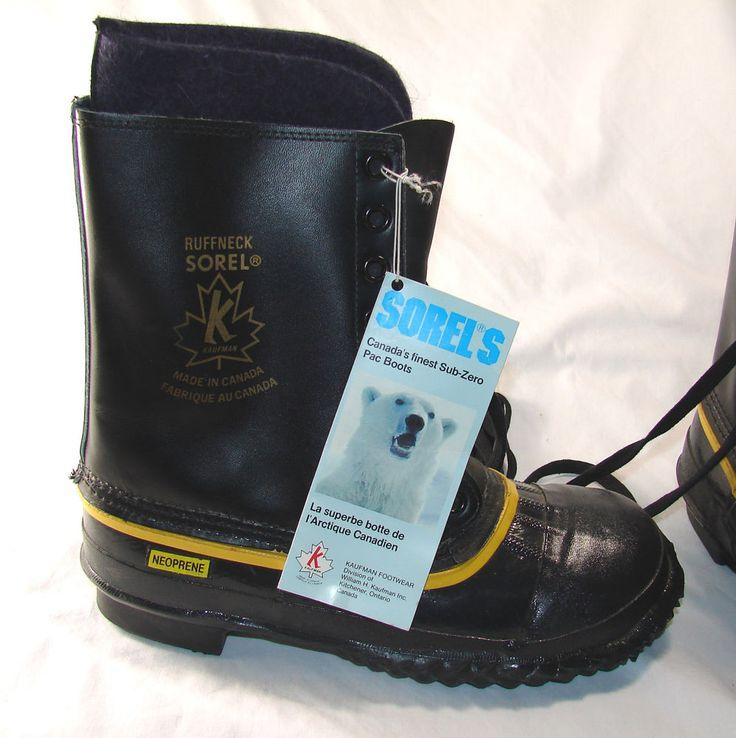 НОВЫЕ винтажные SOREL подкатегории нулевой Pac зимние ботинки мужской размер 7, Tuffneck кожаный/резина   Одежда, обувь и аксессуары, Обувь для мужчин, Ботинки   eBay!