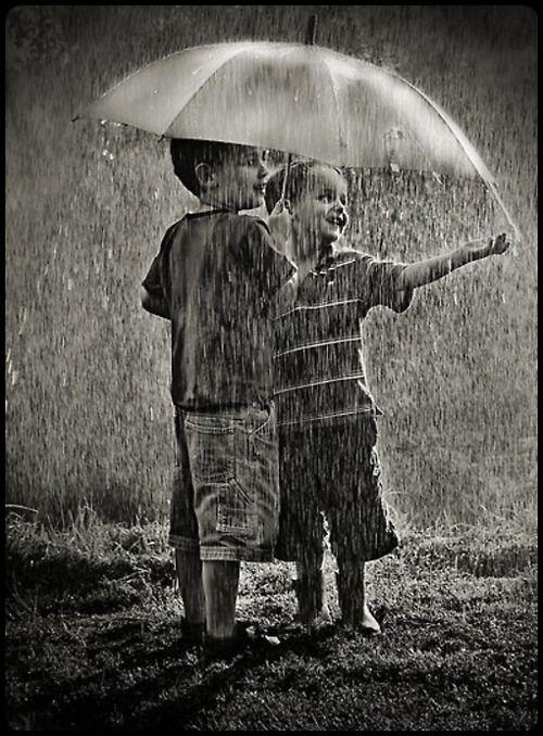 enjoying the rain…