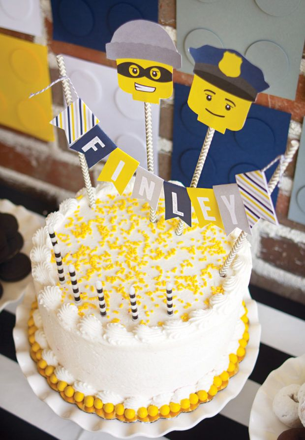 Lego City Police Cake Topper