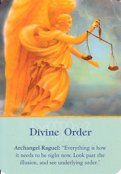 "Angel Card Reading for Sunday - ""Divine Order"" Archangel Raguel: ""Everything…"