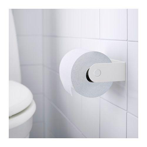 ENUDDEN Toilet roll holder, white - white