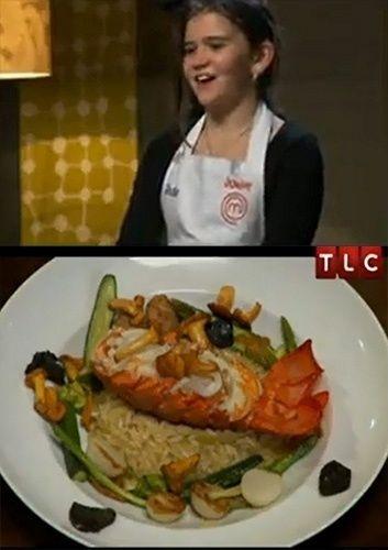 """Aos 10 anos,  Jade mandou muito bem no seu risoto de lagosta em uma prova com muita pressão no """"MasterChef Junior"""" da Austrália"""