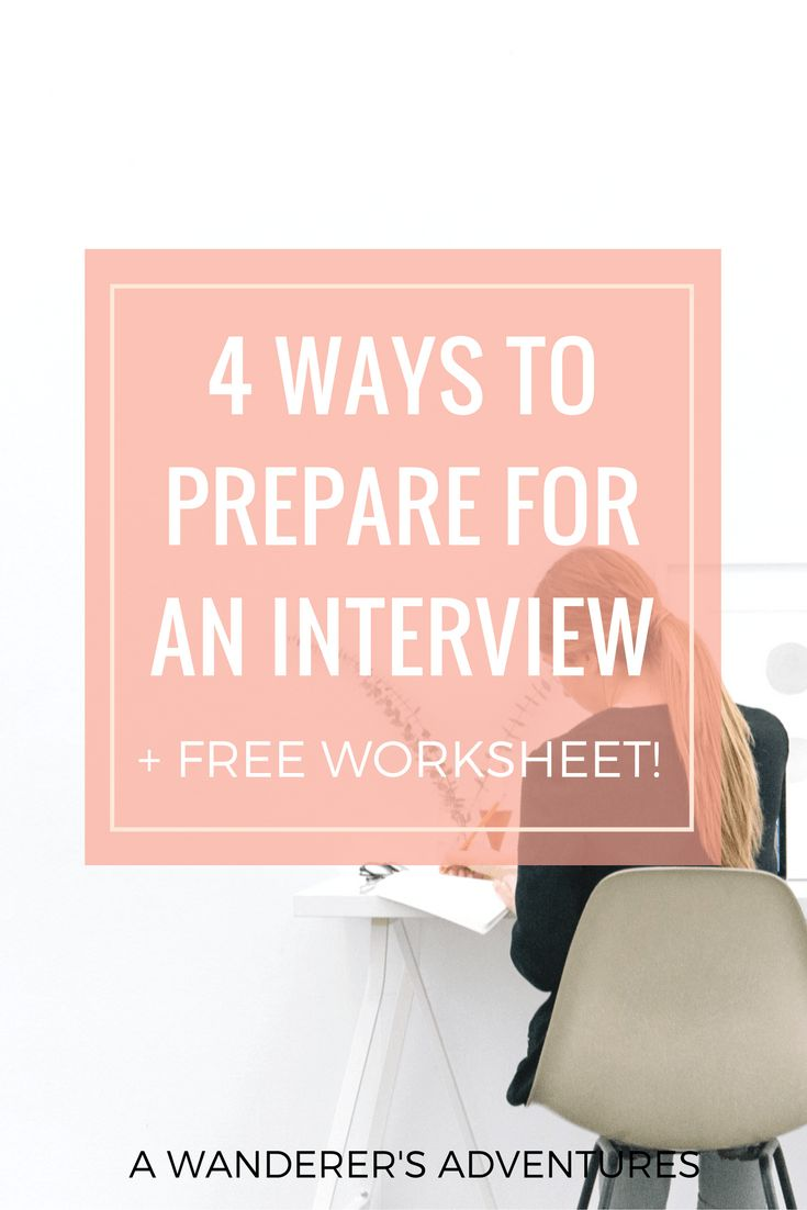 One of the ways to ace any interview is to prepare. Check out these 4 ways to help you prepare and grab your bonus worksheet at the end!