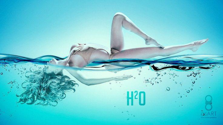 """H2-O"" Experimental Illustration Created in Adobe Photoshop CC"