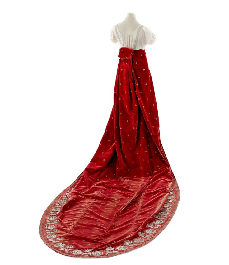 Court train, c. early 1800's, French. From the Chateau de Malmaison Costume Collection.