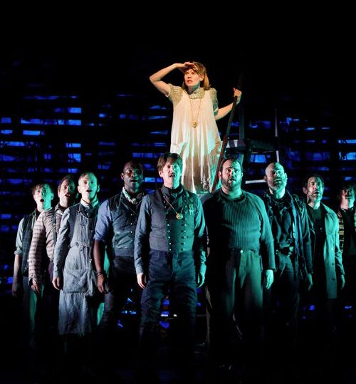 Celia Keenan-Bolger and company in Peter and the Starcatcher (2012).