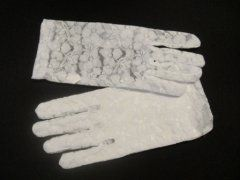 Lace Glove Short - White