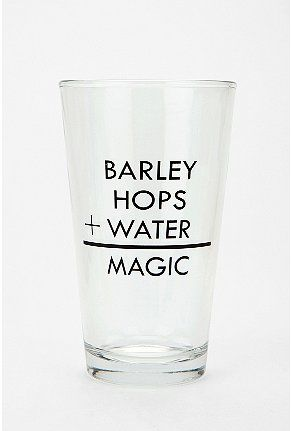 no longer available at urban outfitters, but how awesome would this be etched onto plain pint glasses as a DIY?! for the man, of course.