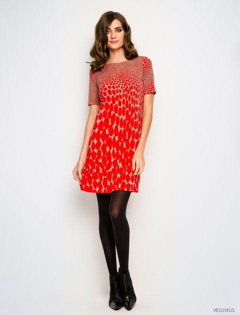 Isadora dress in Vesuvius print. Leona Edmiston's Ruby line, 2014.