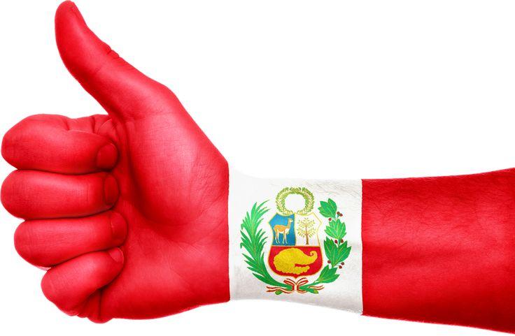 Peru Flag Hand Patriotic transparent image