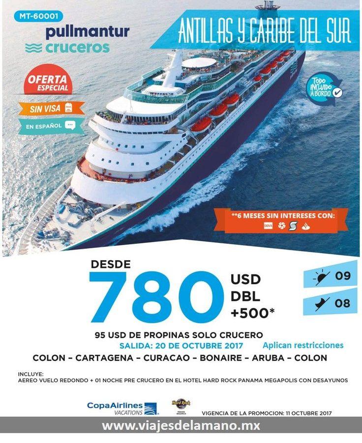 Realiza un crucero por las Antillas y Caribe del Sur. www.viajesdelamano.mx #cruceroscaribe