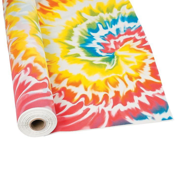 Tie Dye Tablecloth Roll - OrientalTrading.com