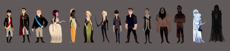 Throne of Glass Character Line Up by ennemme.deviantart.com on @deviantART