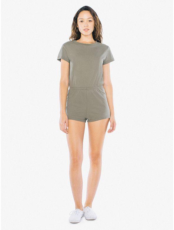 04e396eea47 Fine Jersey T-Shirt Romper - American Apparel