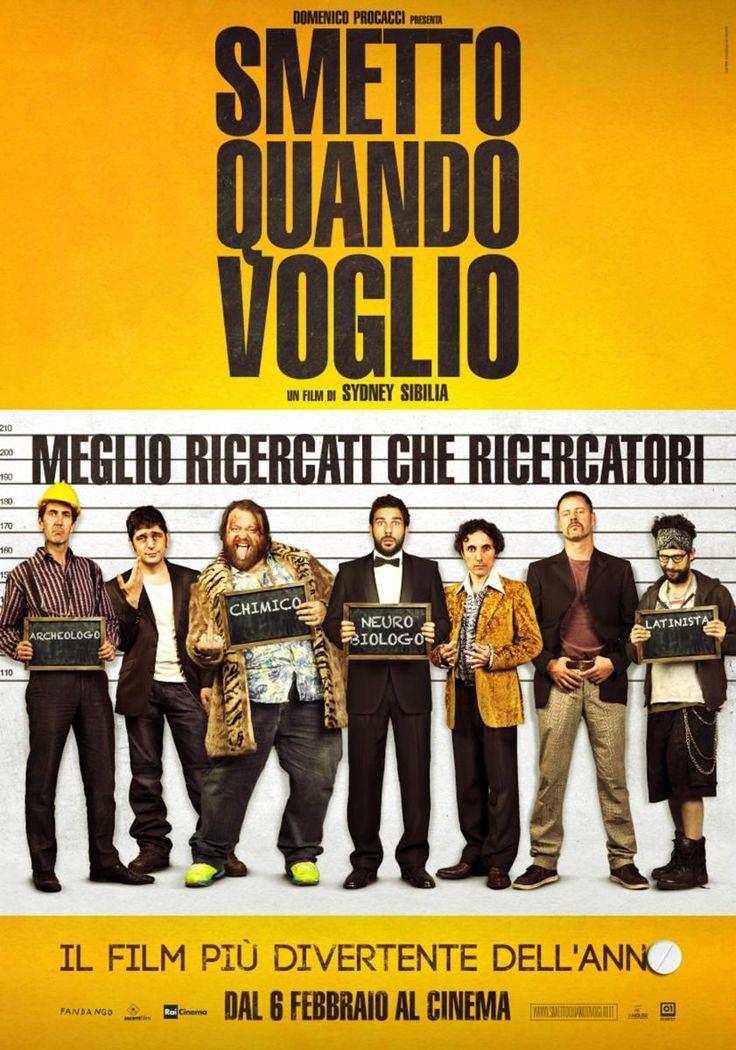 Smetto quando voglio è una commedia del 2014, diretta da Sydney Sibilia, con Edoardo Leo e Valeria Solarino.