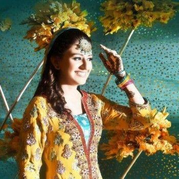 Pakistani Bridal Mehndi Dresses 2013