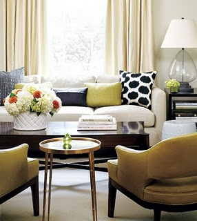 Masculine Color Scheme: Cream, White, Wood, Pea Green, Navy Accents