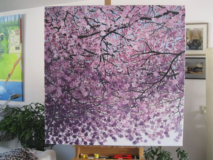 Blossoms  ©Asta Rudminaite 2015 100cmx100cm