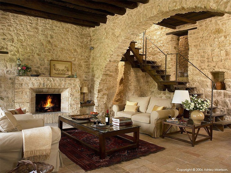 The Sitting Room In Casa DellArco At Borgo Pianciano Umbria Region Of Italy Near Spoleto By Ashley Morrison And Marie McMillen