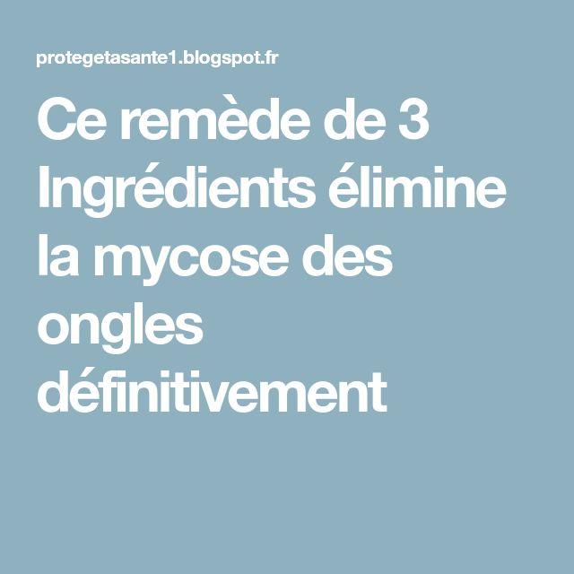 Ce remède de 3 Ingrédients élimine la mycose des ongles définitivement