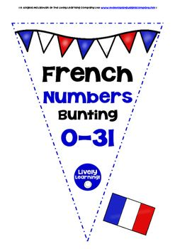 Brighten up your classroom for the new school year with a FREEBIE FRENCH NUMBERS 0-31 BUNTING/BANNER SET! Even if your students are way beyond learning to count in FRENCH, the bunting/banners create a great FRENCH look and feel to your learning environment.  You can also use the banners/bunting as flashcards for younger learners of FRENCH.  Please read the Terms of Use carefully - this resource is copyright, and for single-classroom only.  MERCI BEAUCOUP ET BON DIVERTISSEMENT !