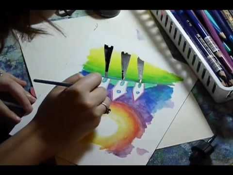 Watercolor pencils TUTORIAL. GREAT FOR SO MAY PROJECTS--cards, journals, stamping, sketching... etc!