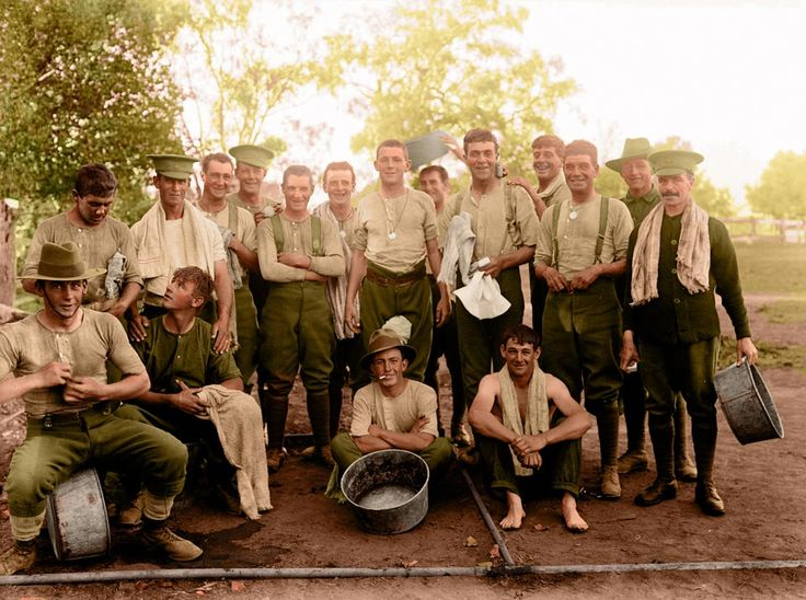 Members of the 1th Australian Imperial Force at a camp in Australia ( ca. 1916)