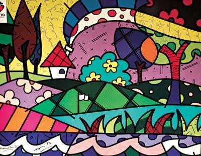 Pintura de Romero Britto Mexican Artist
