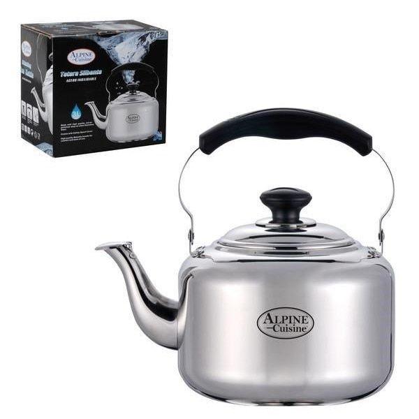 (Silver) 4-liter Whistling Tea Kettle