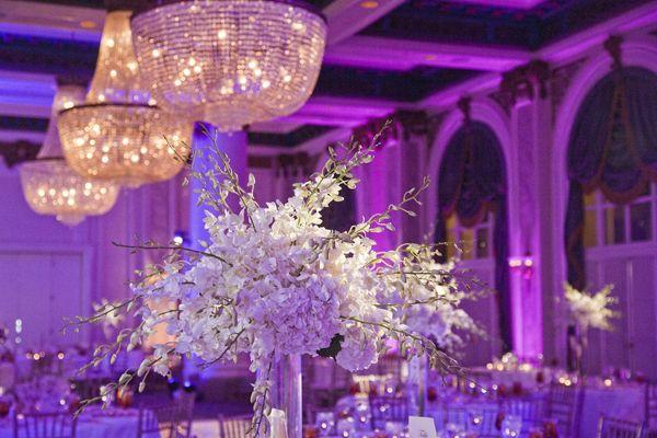 Love the color scheme here at Joanna & Jared's wedding!  Reception Venue: Jefferson Hotel  http://www.jeffersonhotel.com/
