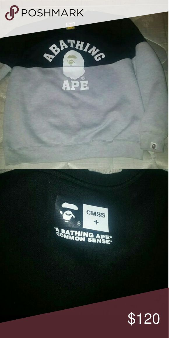 Bape Bape Crewneck Got it for 200 asking for 120 very good codition worn once bape  Sweaters Crewneck