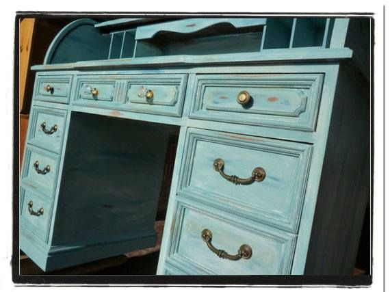 rolltop desk in provence chalk paint and a wash with old white rh pinterest com