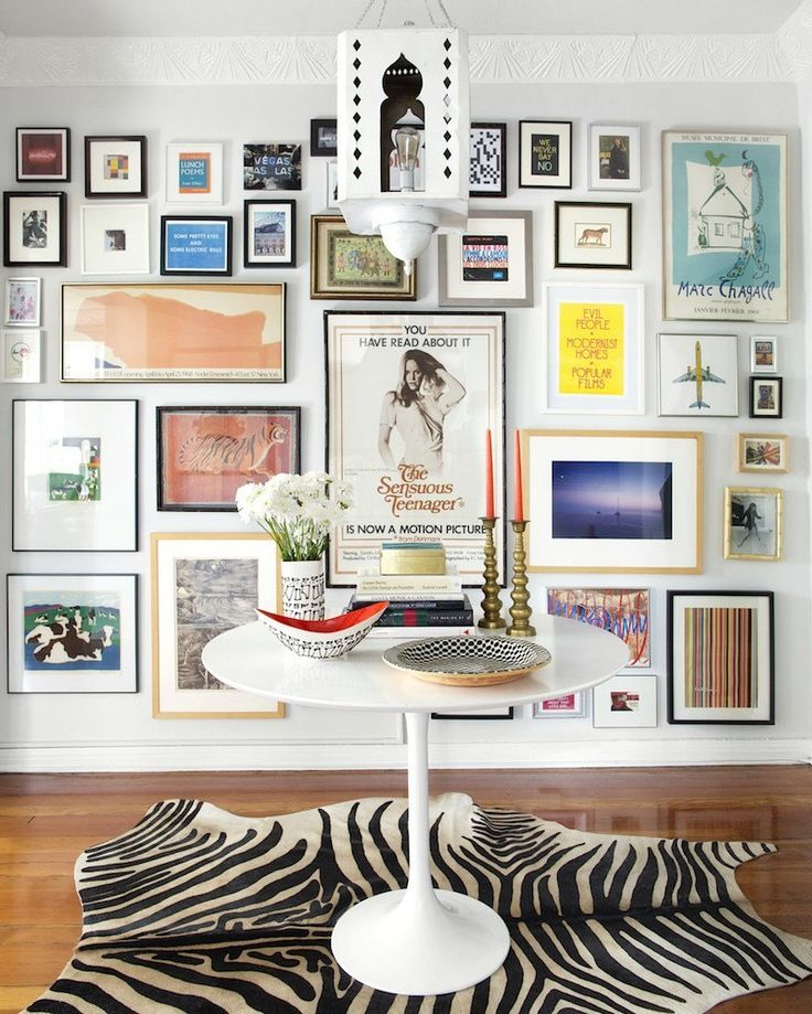 eclectic gallery walls. You know... with a bunch of mismatched frames and cool art that just seem to magically have come together. Ever try to do one?