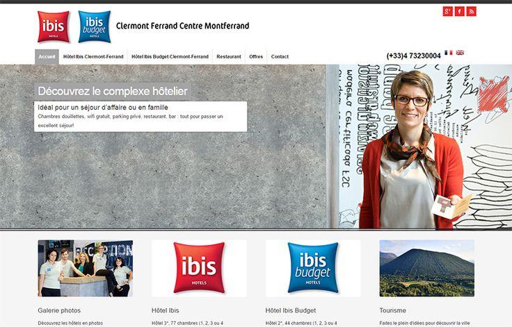 Création du site Internet pour les hôtels Ibis de #ClermontFerrand #Montferrand http://www.hotel-ibis-clermontferrand.com