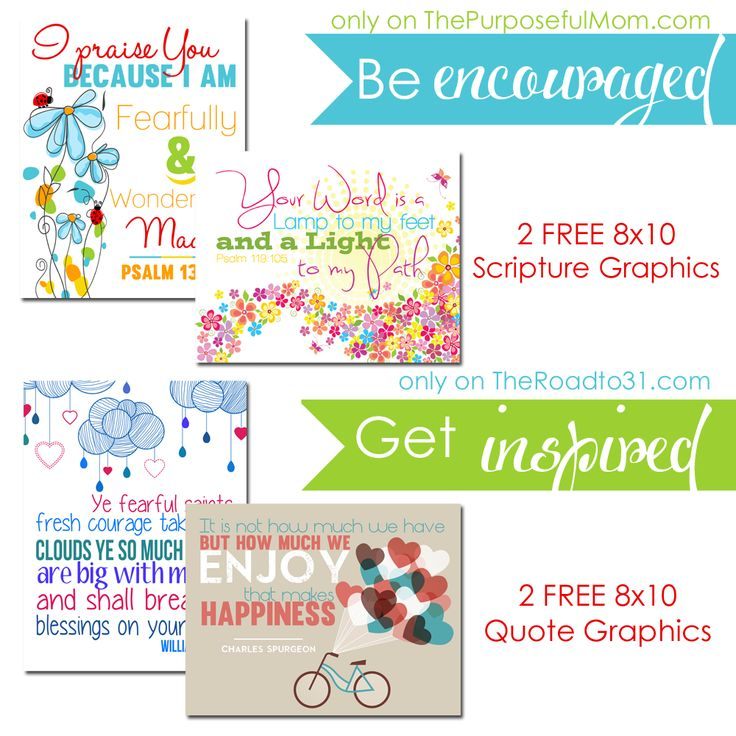 Free 8x10 Scripture and Christian quote graphics downloadable and printable graphics for your home!